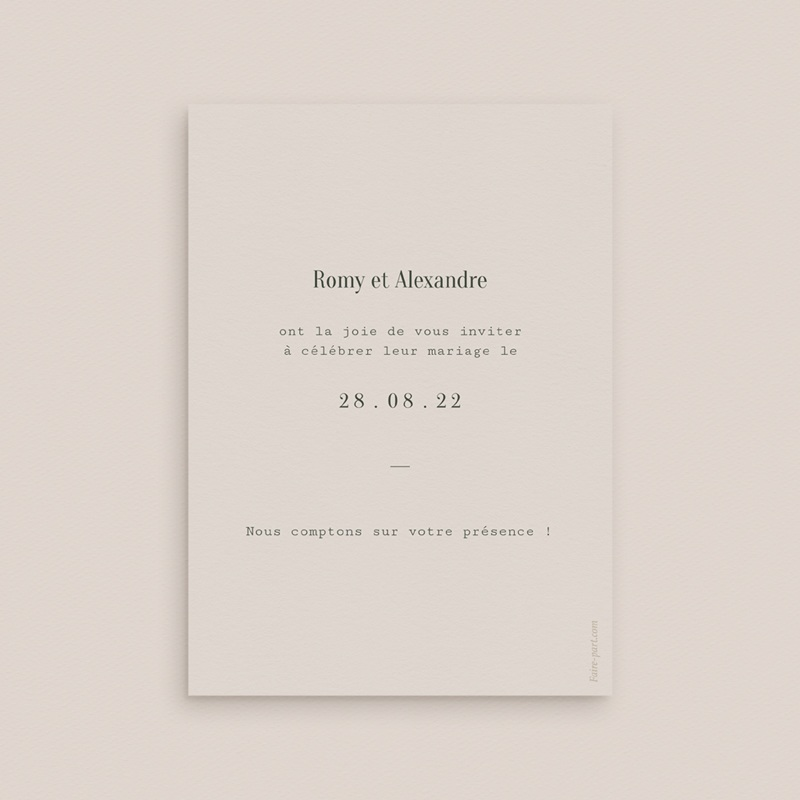 Save-the-date mariage Typographie & Couleur, New date pas cher