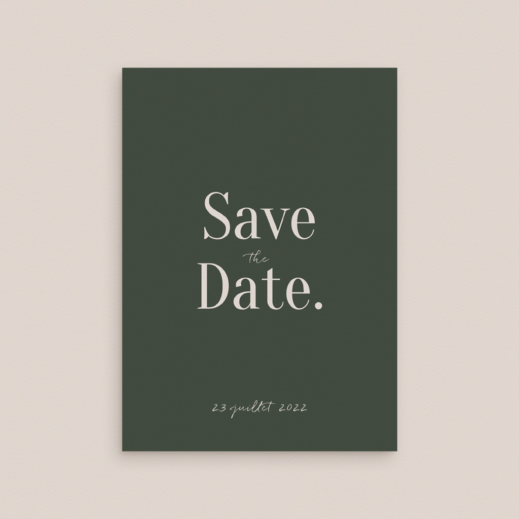 Save-the-date mariage Typographie & Couleur, New date gratuit