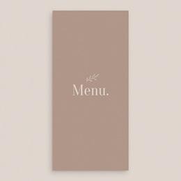 Menu mariage Typographie & Couleur, repas de noces gratuit