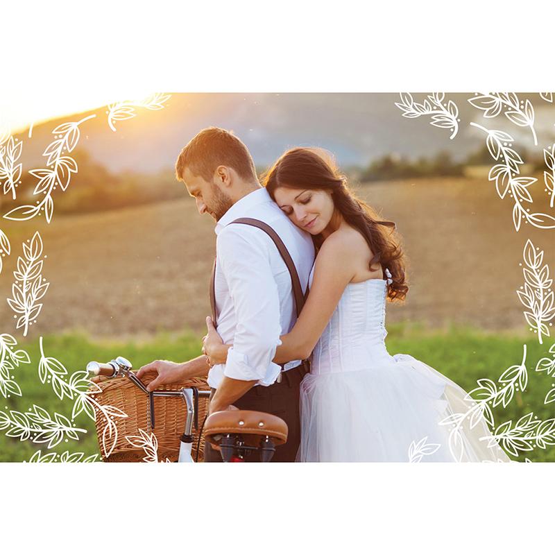 Carte de remerciement mariage Tendance bois gratuit