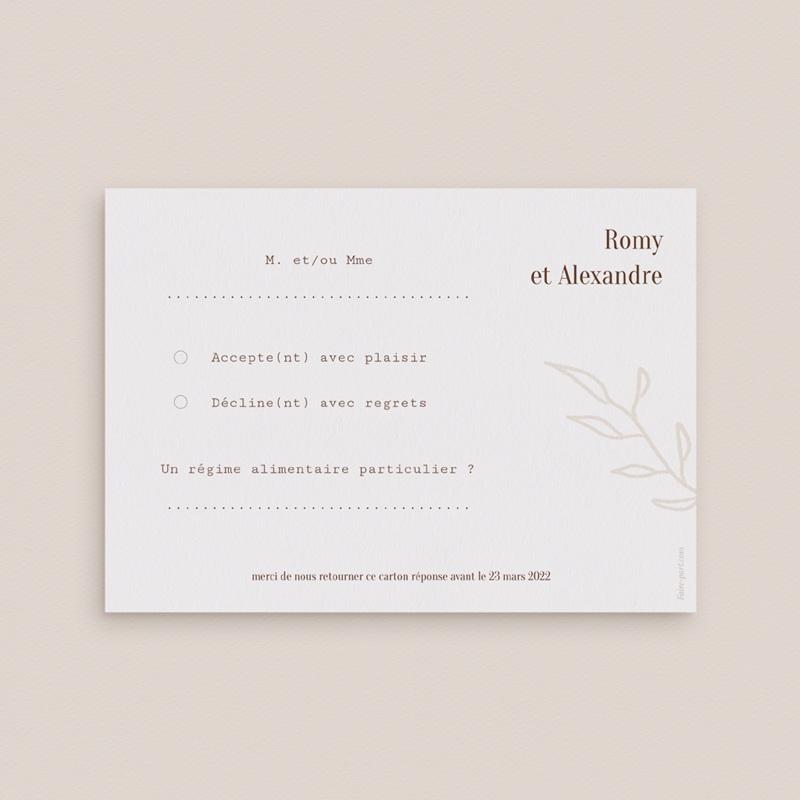 Carton réponse mariage Typographie & Couleur, Rsvp pas cher