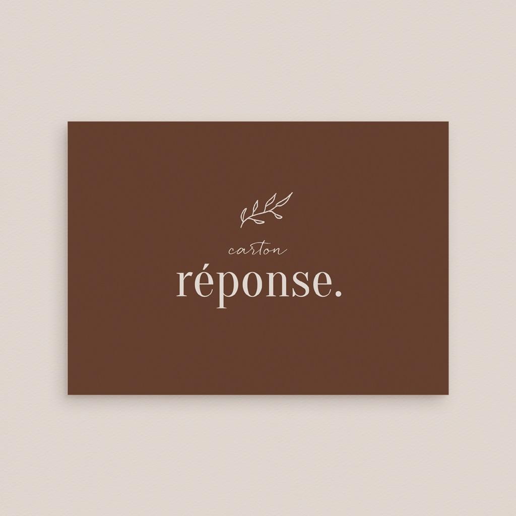 Carton réponse mariage Typographie & Couleur, Rsvp gratuit