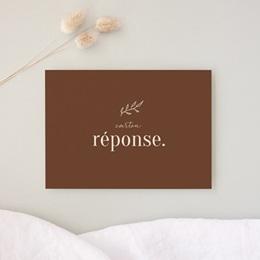 Carton réponse mariage Typographie & Couleur, Rsvp