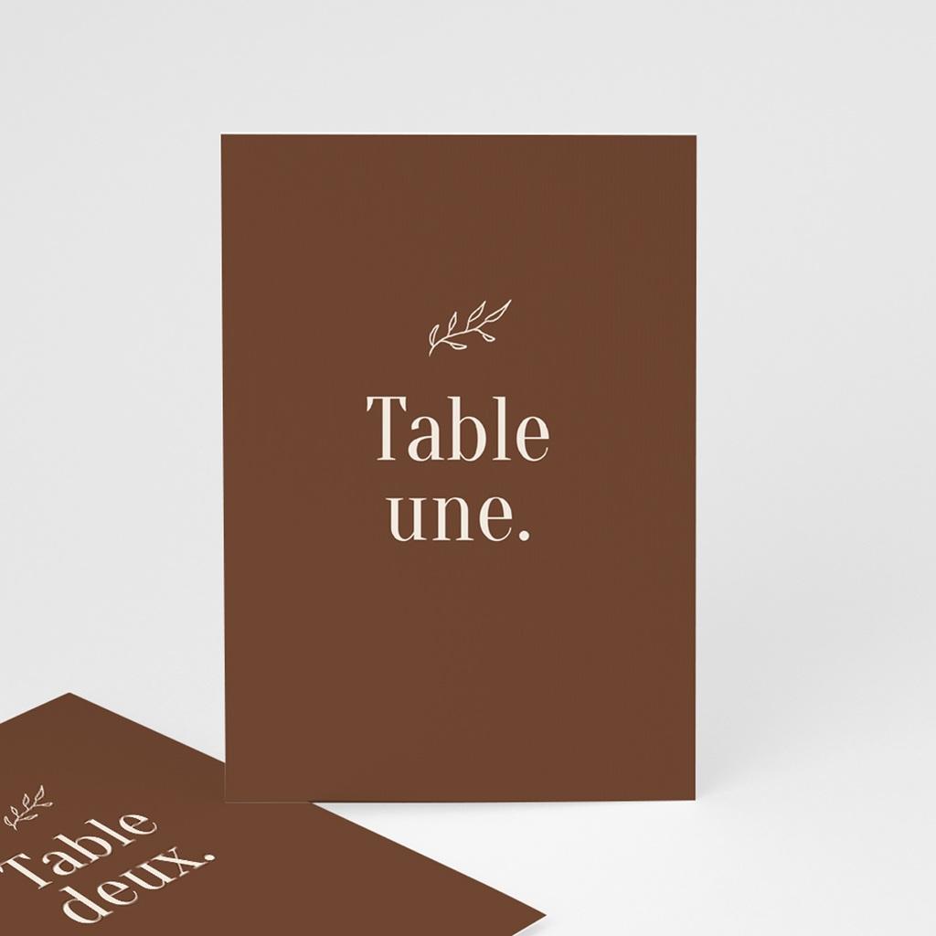 Marque table mariage Typographie & Couleur, 3 repères