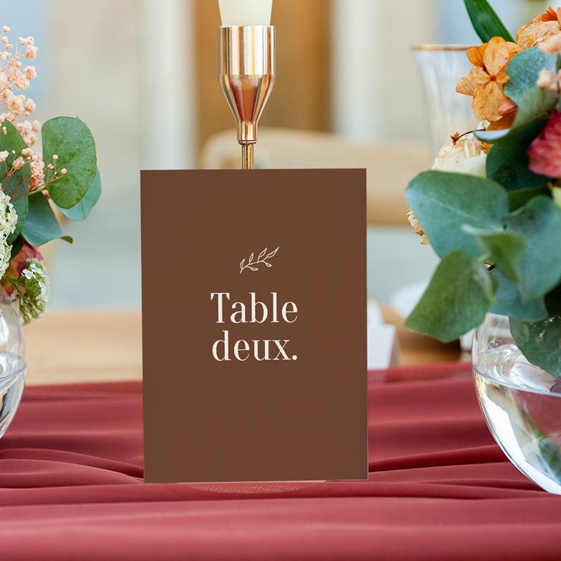 Marque table mariage Typographie & Couleur, 3 repères gratuit