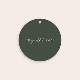 Etiquettes cadeaux mariage Typographie & Couleur, 4,5 cm pas cher