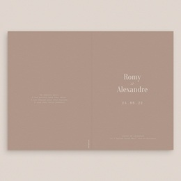 Livret de messe mariage Couverture, Typographie & Couleurs gratuit