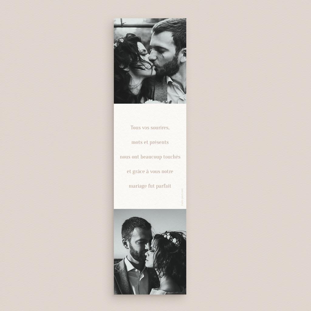 Carte de remerciement mariage Typographie & Couleur, 2 photos pas cher