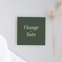 Change the date mariage Typographie & Couleur, 10 x 10 cm