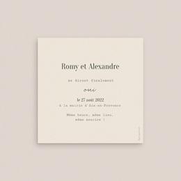 Change the date mariage Typographie & Couleur, 10 x 10 cm pas cher