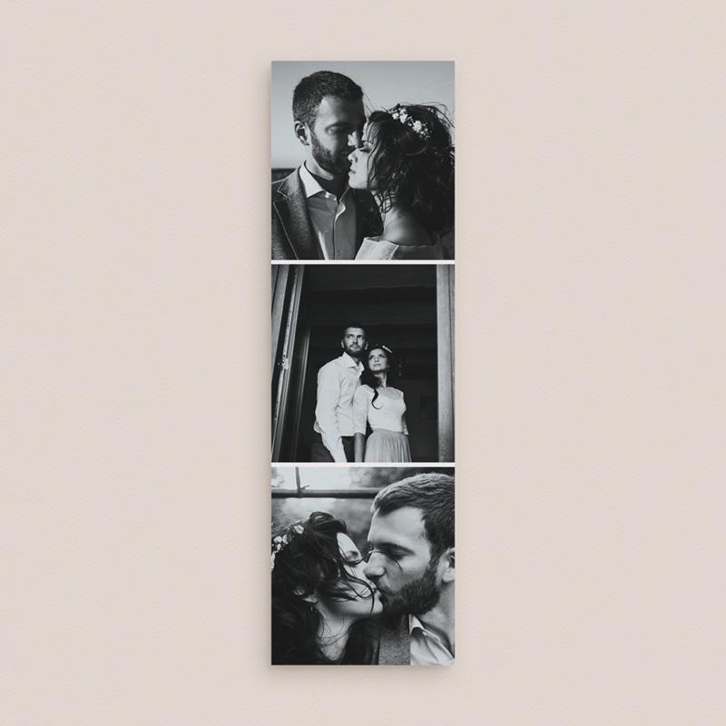 Carte de remerciement mariage Typographie & Couleur, 2 en 1, 3 photos gratuit