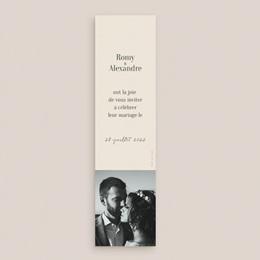 Save-the-date mariage Typographie & couleur, Vert, 5,5 x 21 cm pas cher