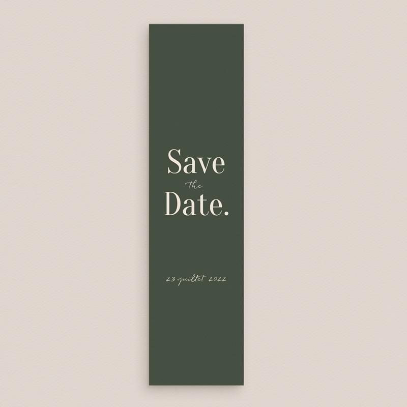 Save-the-date mariage Typographie & couleur, Vert, 5,5 x 21 cm gratuit