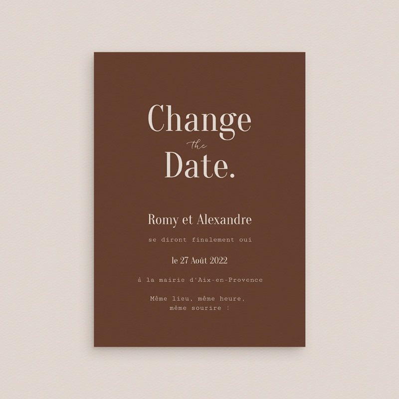 Change the date mariage Typographie & Couleur, New date gratuit