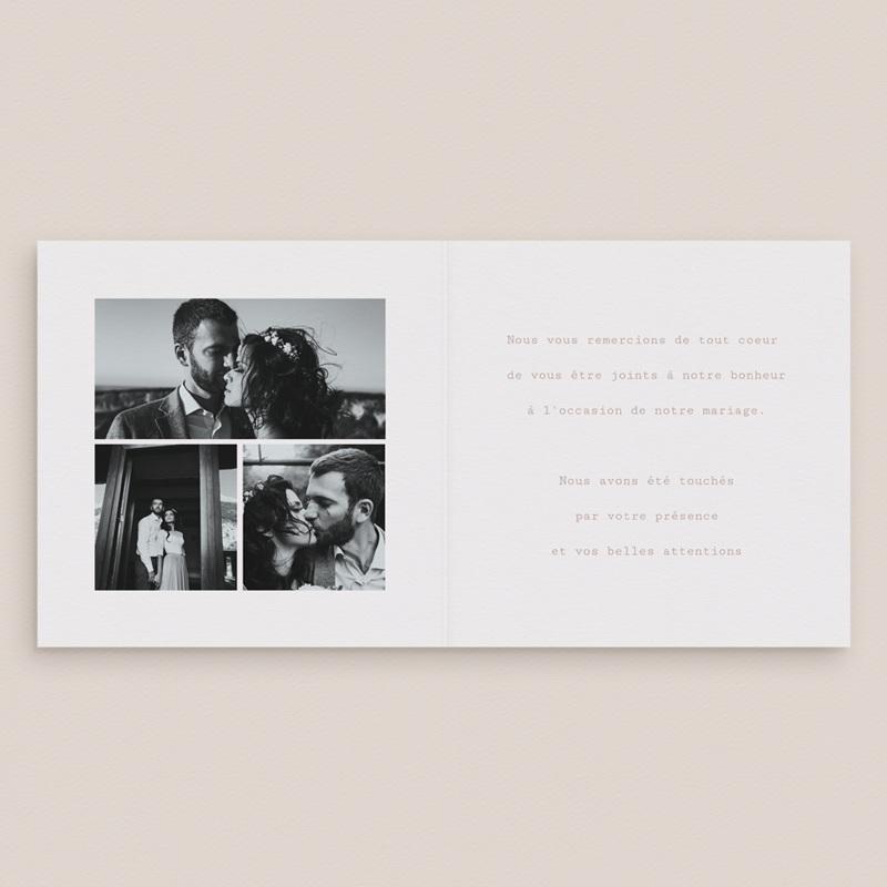 Carte de remerciement mariage Typographie & couleur, 3 Photos, 14 x 14 pas cher