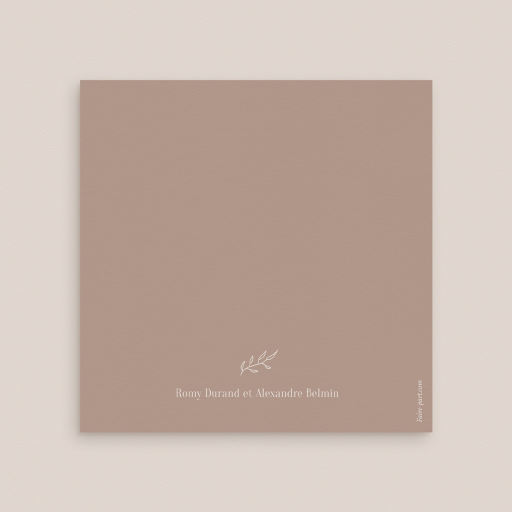 Carte de remerciement mariage Typographie & couleur, 3 Photos, 14 x 14 gratuit