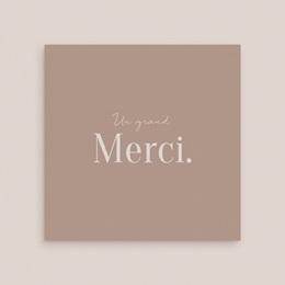 Carte de remerciement mariage Typographie & couleur, 3 Photos, 14 x 14
