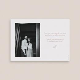 Carte de remerciement mariage Typographie & couleur, Nude, 14 x 10 cm pas cher