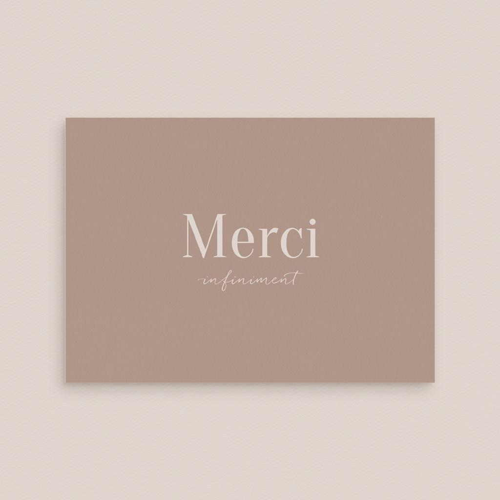 Carte de remerciement mariage Typographie & couleur, Nude, 14 x 10 cm gratuit