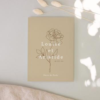 Carte anniversaire de mariage rectangulaire