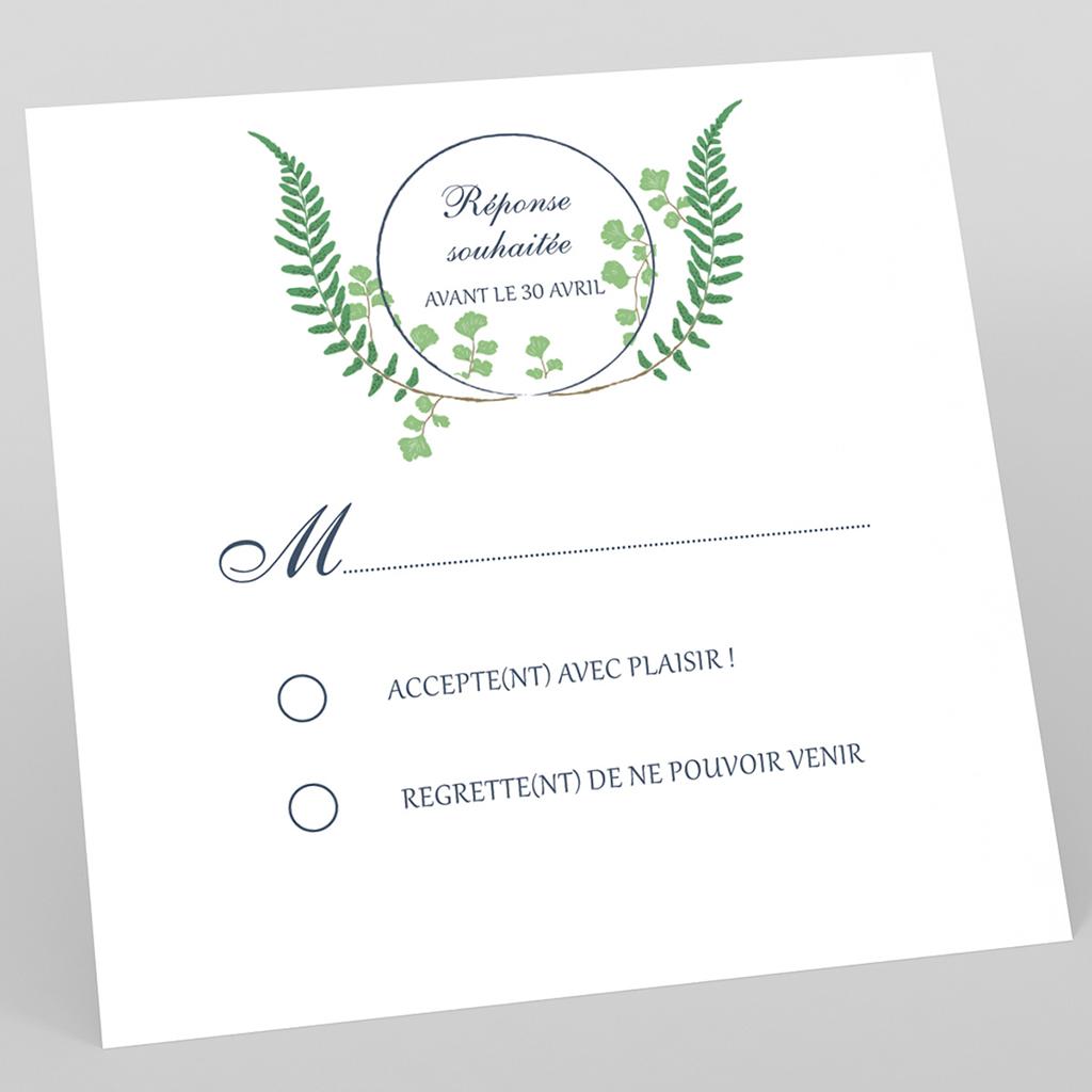 Carton réponse mariage Nature Chic