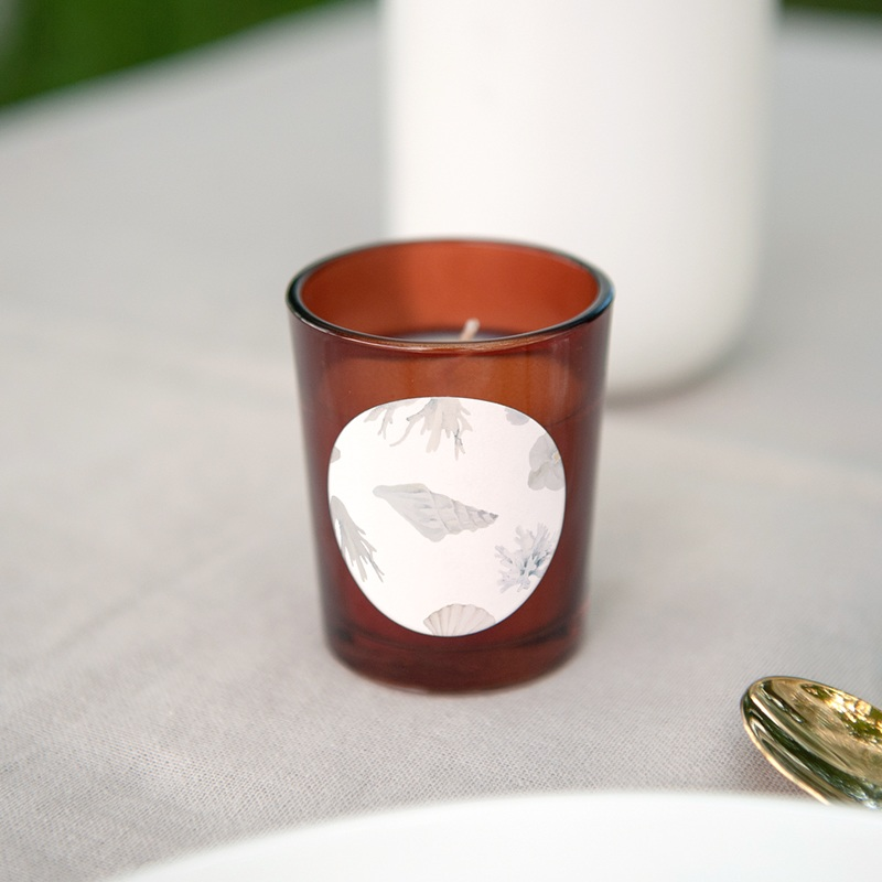 Etiquette enveloppes mariage Coquillages & coraux Aquarelle, 4,5 cm gratuit