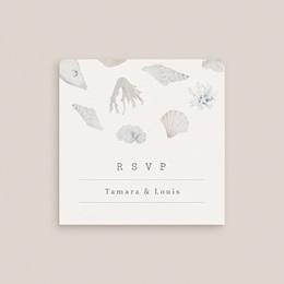 Carton réponse mariage Coquillages & coraux Aquarelle, Rsvp gratuit