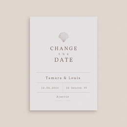 Change the date mariage Coquillages & coraux Aquarelle, New date gratuit