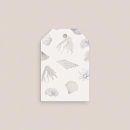 Etiquettes cadeaux mariage Coquillages & coraux Aquarelle, 6 x 4 cm pas cher