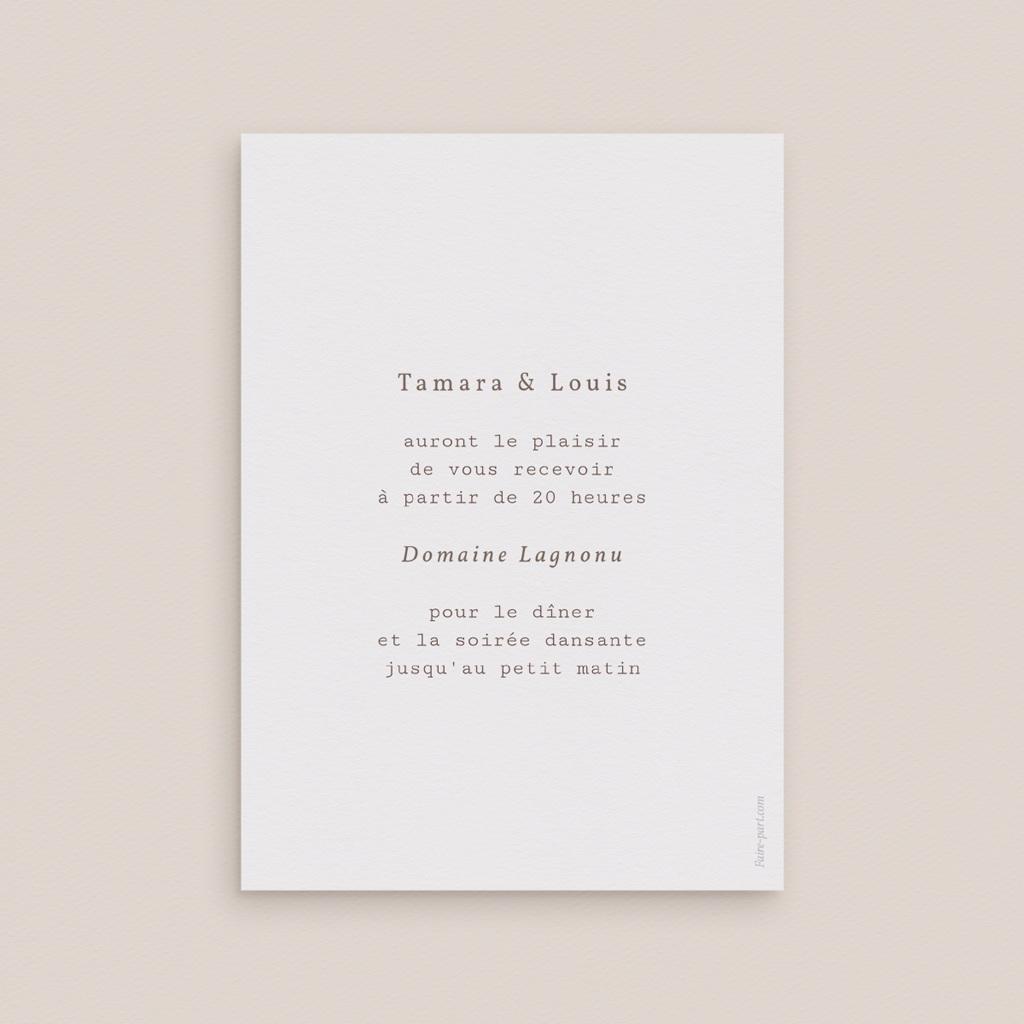 Carte d'invitation mariage Coquillages & coraux Aquarelle, Dîner pas cher
