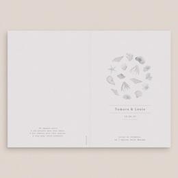 Livret de messe mariage Coquillages & coraux Aquarelle, Couverture gratuit