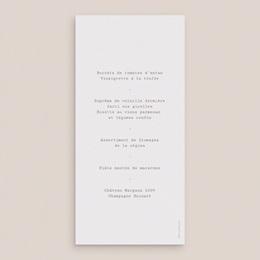 Menu mariage Coquillages & coraux Aquarelle, repas, 10 x 21 cm pas cher