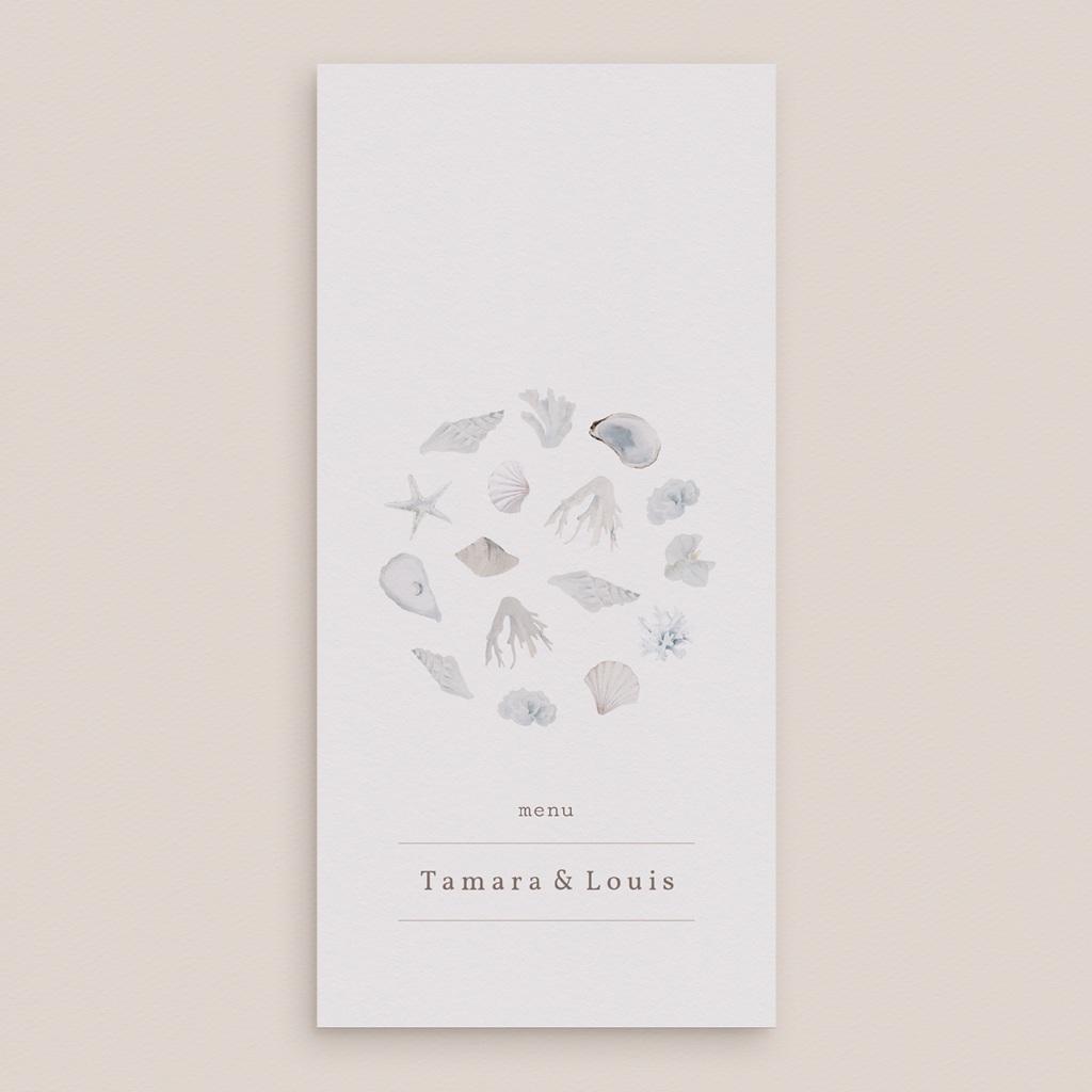 Menu mariage Coquillages & coraux Aquarelle, repas, 10 x 21 cm gratuit
