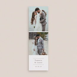 Carte de remerciement mariage Coquillages & coraux Aquarelle, 2 en 1 gratuit