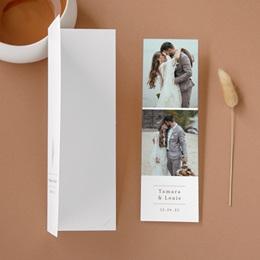 Carte de remerciement mariage Coquillages & coraux Aquarelle, 2 en 1