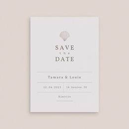 Save-the-date mariage Coquillages & coraux Aquarelle, Jour J gratuit