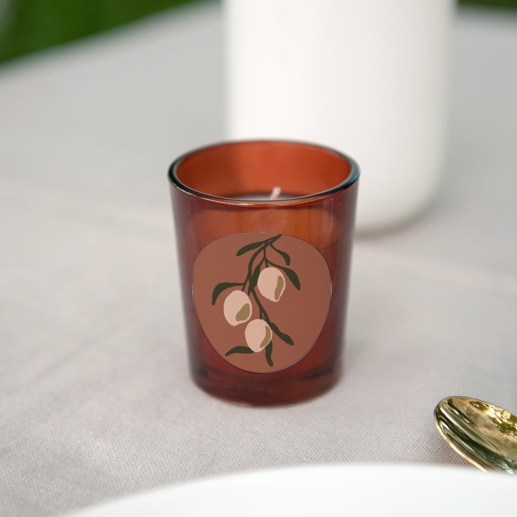 Etiquette enveloppes mariage Citrons Terracotta, 4,5 cm gratuit