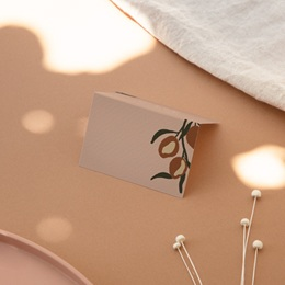Marque-place mariage Citrons Terracotta, 7,5 x 5,2 cm
