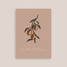 Carte d'invitation mariage Citrons Terracotta, Cocktail & Diner gratuit
