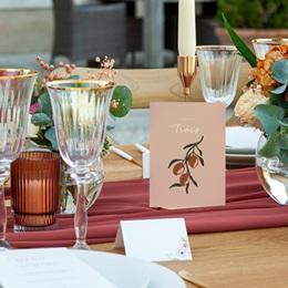Marque table mariage Citrons Terracotta, Lot de 3 pas cher