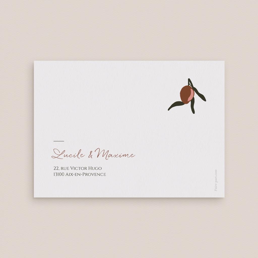 Carte de remerciement mariage Citrons Terracotta, Photo, 14 x 10 cm pas cher