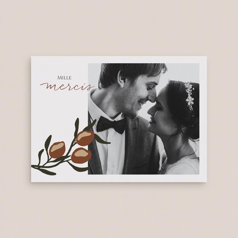 Carte de remerciement mariage Citrons Terracotta, Photo, 14 x 10 cm gratuit