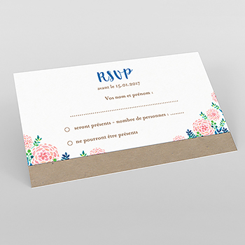 Carton réponse mariage Romantic Folk