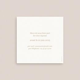 Carton réponse mariage Brin romantique, Beige doré, Rsvp pas cher