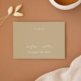 Change the date mariage Brin romantique, Beige doré, Nouvelle Date