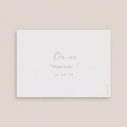 Change the date mariage Brin romantique, Beige doré, Nouvelle Date pas cher
