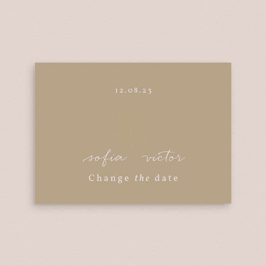 Change the date mariage Brin romantique, Beige doré, Nouvelle Date gratuit
