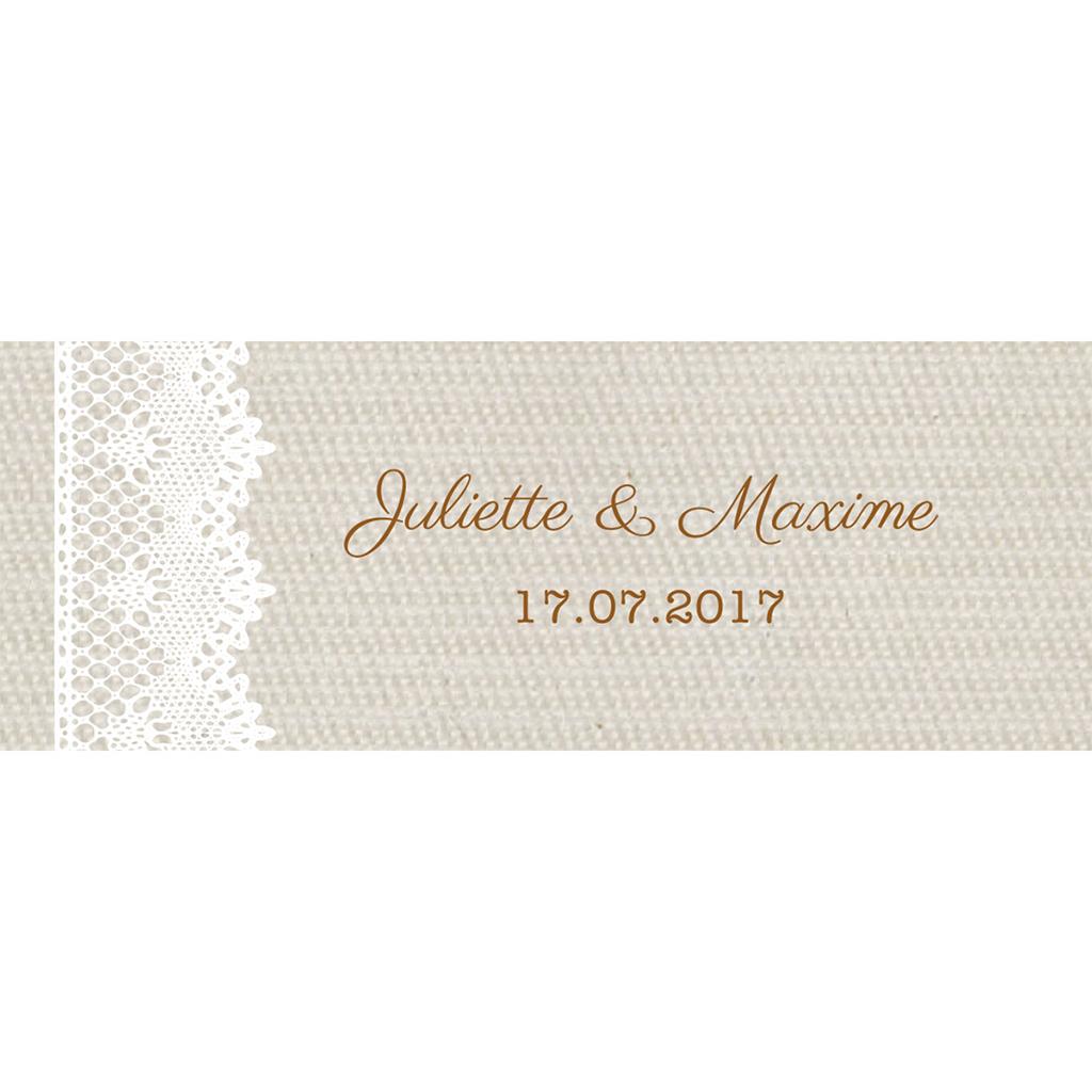 Marque-place mariage Dentelle Vintage pas cher