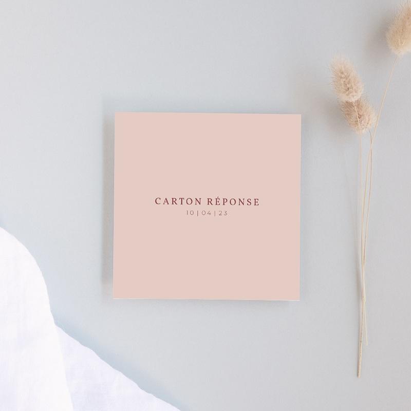 Carton réponse mariage Romance florale, Rsvp