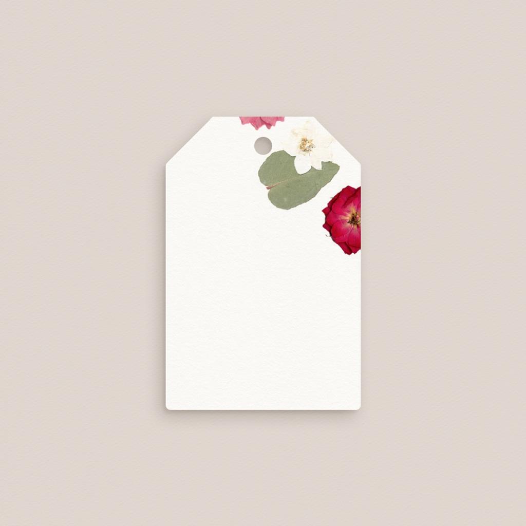 Marque-place mariage Romance Florale, Invité gratuit